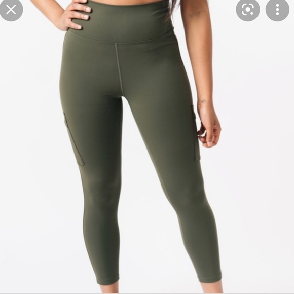 ZYIA Forest Night Cargo Luxe Hi Rise Tights